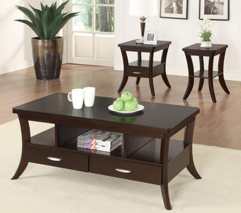 Celeste Expresso 3-PC Occasional Set With Drawers