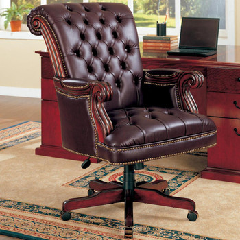 Calvin Rich Dark Brown Office Chair