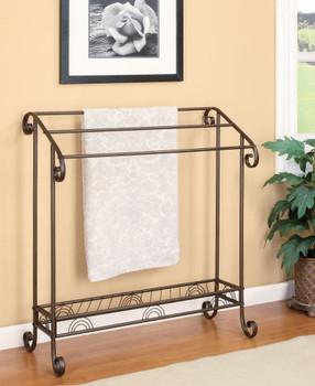 Nancy Dark Bronze Metal Towel Rack