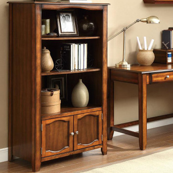 Harvey Walnut Bookcase with Cabinet