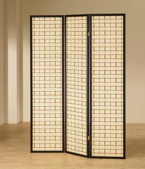 Elin Black Three-Panel Divider
