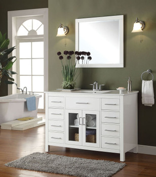 Jayde White Real Marble Top White Finish Sink