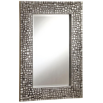 Cristin Antique Pewter Wall Mirror
