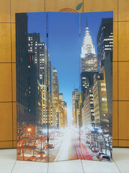 Jacie New York City Three-Panel Divider