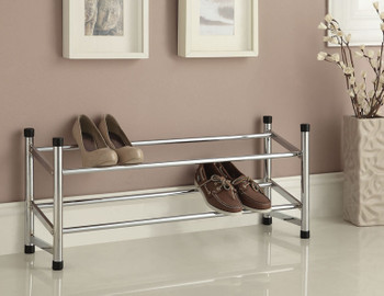 Lear Chrome Shoe Rack