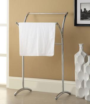 Bevis Chrome Metal Towel Rack ...
