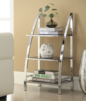 Bayly Chrome Metal Bookcase
