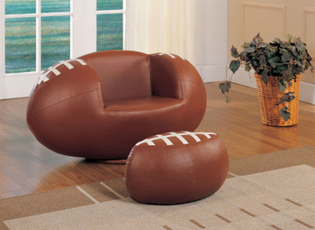 Gerold Leather Football With Ottoman