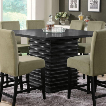 Darnell Black Counter Height Table