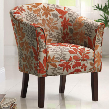 Amelia Autumn Leaves Accent Chair