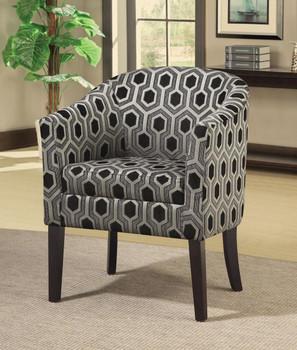 Arick Hexagon Accent Chair