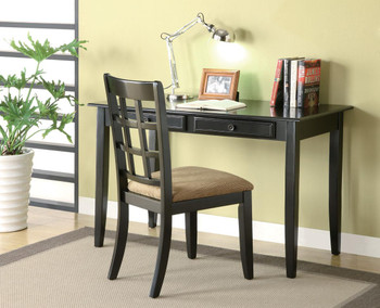 Eliot Black 2PC. Writing Desk And Chair Set