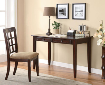 Eliot Cherry 2PC. Writing Desk And Chair Set