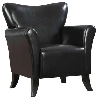 Harmony Black Leather Arm Chair
