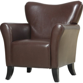 Harmony Brown Leather Arm Chair