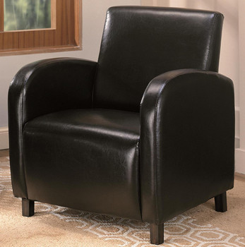 Seranade Dark Brown Leather Arm Chair