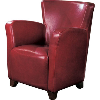 Nerissa Red Leather Arm Chair
