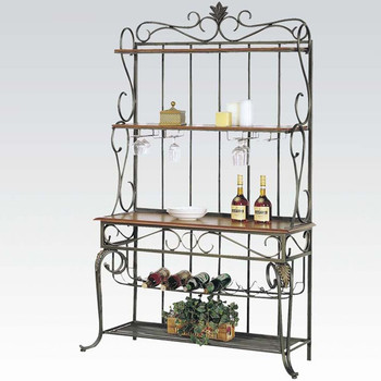 Ceci Copper Wine Bakers Rack by Sentials Home
