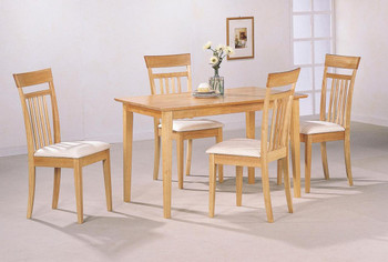 August Maplewood 5-PC Dining Set