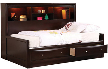 Luke Cappuccino Daybed With Underbed Drawers