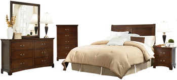 Feline Warm Brown Bedroom Set