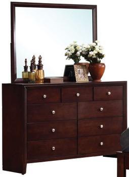 Livington Merlot Dresser & Mirror
