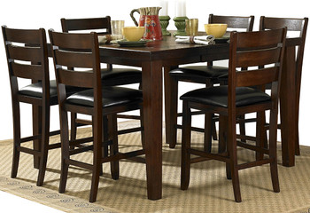 Belgrad 7 Piece Counter Height Set with Leaf