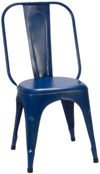 Brianplace Blue Metal Chair
