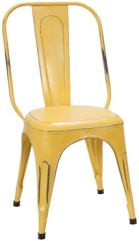 Brianplace Yellow Metal Chair
