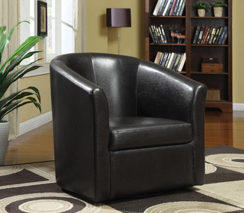 Cole Dark Brown Swivel Chair