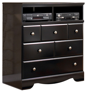 "Dominic Black 38"" Media Chest"