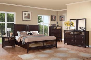 Clover Merlot 6-PC Bedroom Set