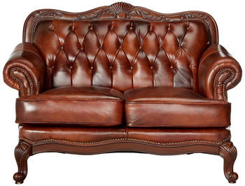 Gordon Top Grain Leather Loveseat
