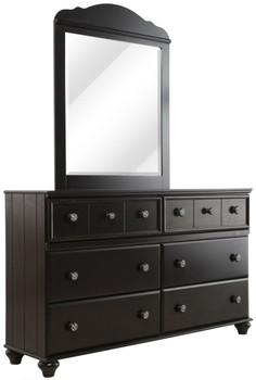 Jocelyn Black Dresser & Mirror