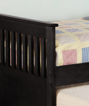 Embry Black Trundle Bed with Storage Drawers