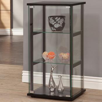 Gali 3-Shelf Curio with Glass Door