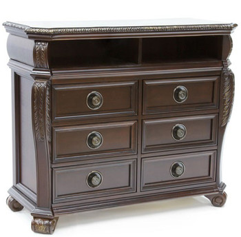 Bradford Brown 6-Drawer Media Chest