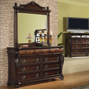 Bradford Brown 9-Drawer Dresser & Mirror
