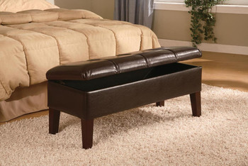 Heinz Deep Brown Leatherette Bench