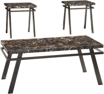 Sindi Bronze 3 Piece Table Set