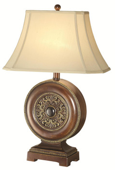 Blossom Brown w/Flare Shade Table Lamp