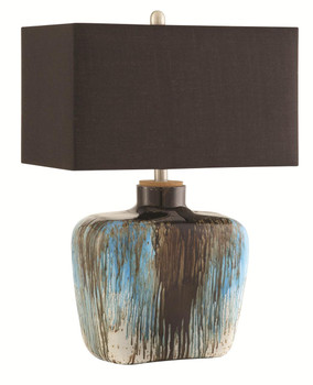 Cyprus Antique Silver/Blue Tones Table Lamp