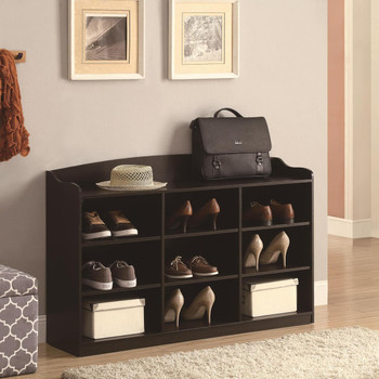 Gillian Cappacino 9 Storage Shoe Storage With Top Rail