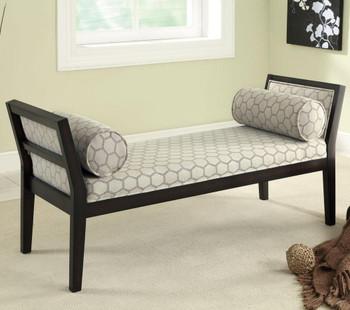 Conroy Hexagon Bench with Lumbar Pillows