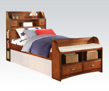 Antique Oak Full Bed w/ Storage