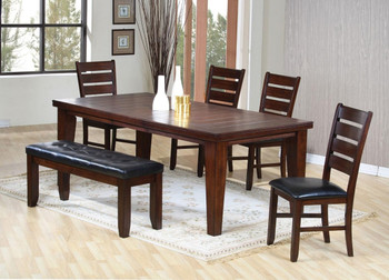 Aitana Antique Brown 6PC Dining Set