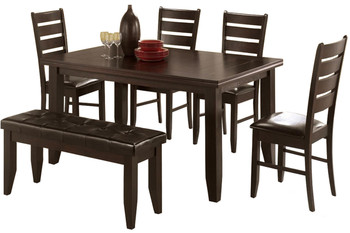 Aitana Cappuccino 6PC Dining Set