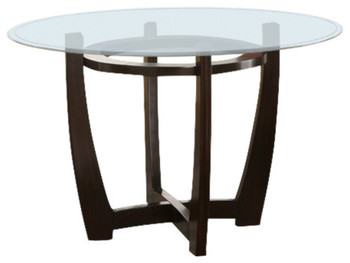 "Continental 48"" Wide Round Glass Dining Table"