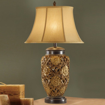 "Blossoms Bronze 33"" Height Table Lamp"