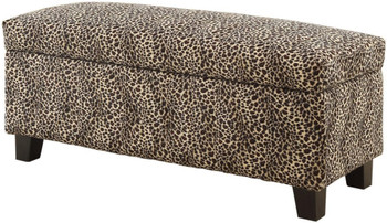 Bailey Leopard Storage Bench